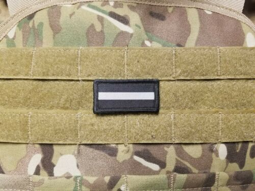 "1x2/"" THIN GREY LINE PRISON CORRECTIONS OFFICER Mini Military Morale Patch Hook"