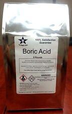 Boric Acid (Orthoboric Acid, Boracic Acid) 25 Lb Consists of 5- 5 Lb Packs 9970