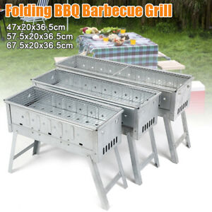 BBQ Grill Folding Portable Charcoal Stove Shish Kebab Stainless Barbecue Camping