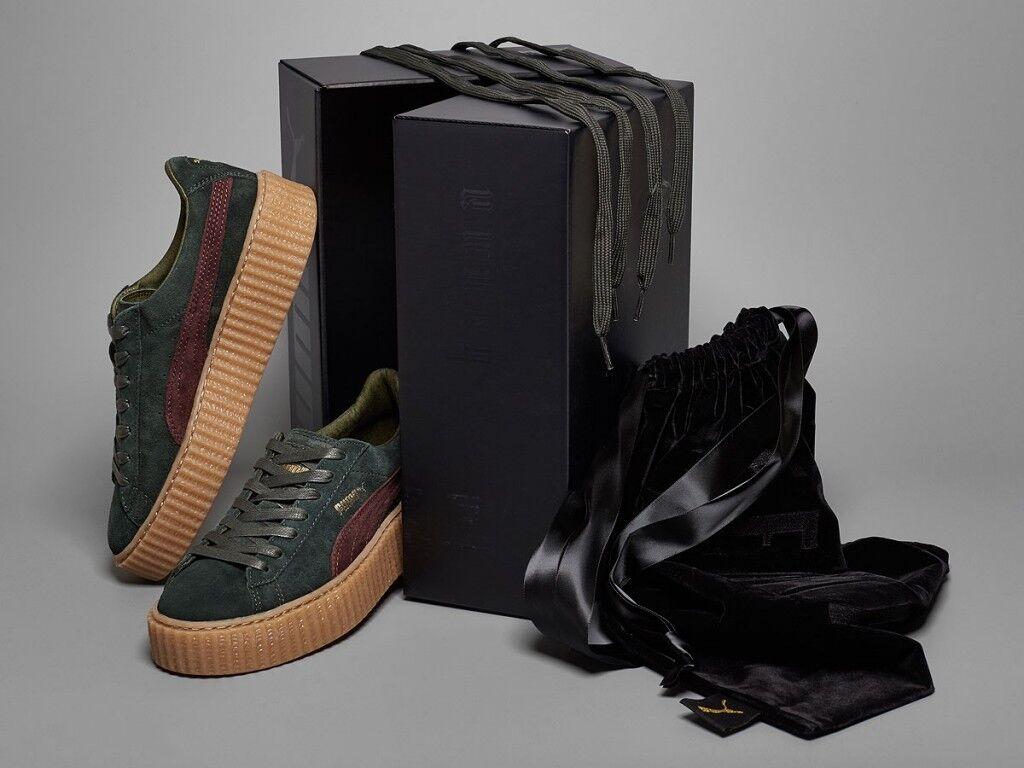 Para Hombre Puma Rihanna Zapatos tring Creepers Verde envío Burdeos Gum GLOBAL el envío Verde 1980f8