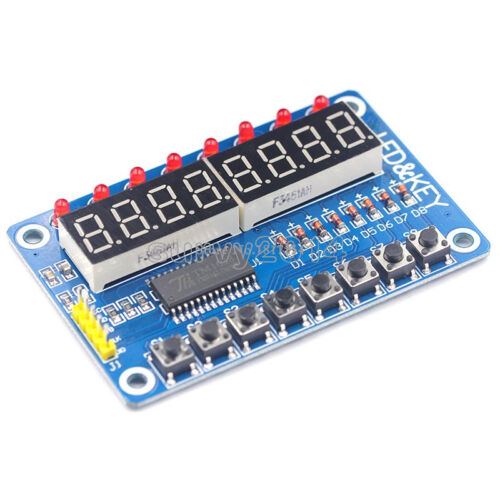 De 8 bits de LED de 8 bits digital de tubos de 8 bits clave tm1638 Módulo Para Avr Arduino Arm Stm32