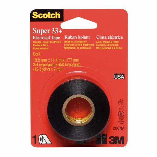 "Vinyl Electrical Tape 3//4 x 240/"" Scotch Super 33 ONLY 1 PER ORDER"