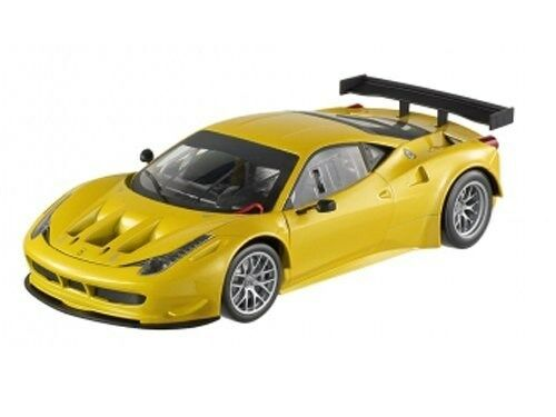 HOT WHEELS  FOUNDATION FERRARI 458 ITALIA GT2 YELLOW TRISTRATO 1 18 BCJ78