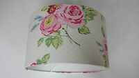 LAMPSHADE MADE FROM Clarke and Clarke  FABRIC(English Rose CHINTZ ).