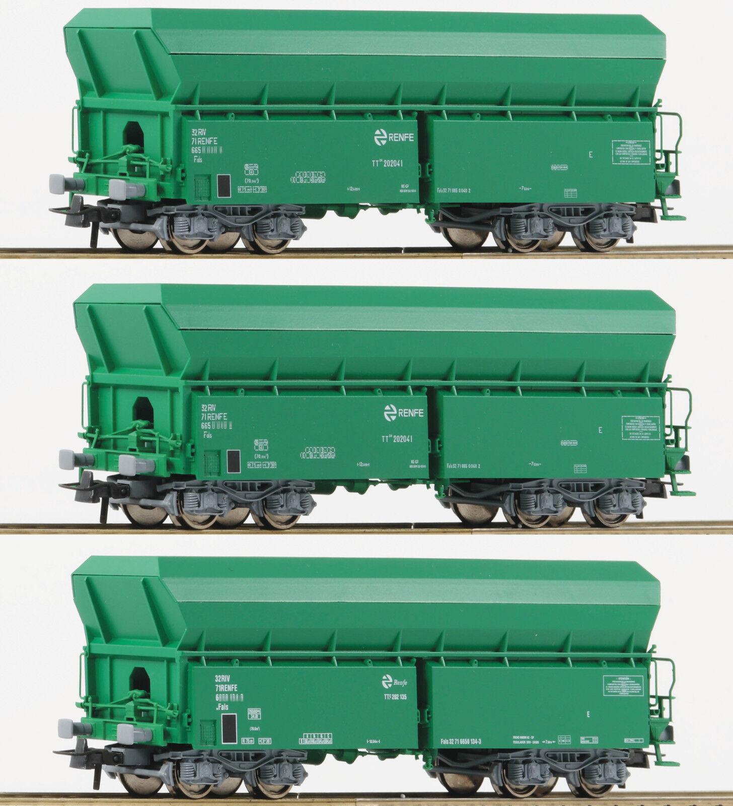Roco ho 67080 - 3-piezas set  selbstenladewagen, tipo de construcción, falns Renfe novedad 2018