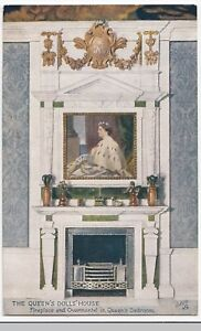 The Queens Dolls House Fireplace Overmantel In Quuens Bedroom Ppc
