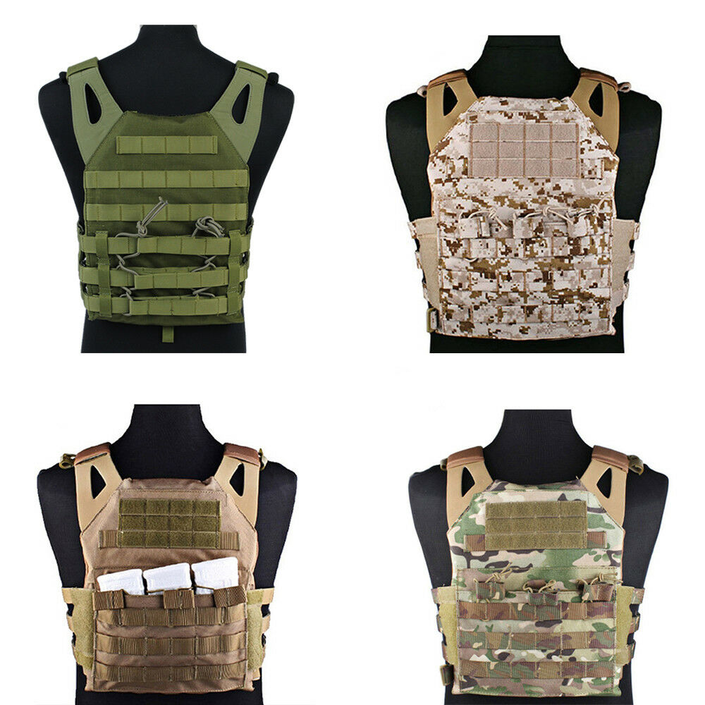 Tactical Molle Modular Plate Carrier Military Paintball Combat  Vest Colo4 rs  buy brand