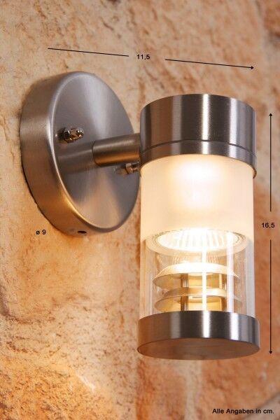 Acero inoxidable lámpara de parojo lámpara de parojo lámpara exterior de vidrio exterior lámpara lámpara de diseño nuevo