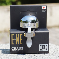 Fits 22.2mm to 31.8mm bars Crane E-NE Bicycle Bell with Clamp Band Mount
