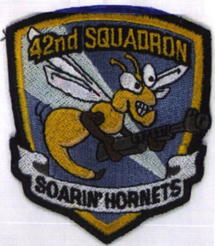 SAAB   Space Above /& Beyond 42nd Hornet Squadron Iron-on Patch