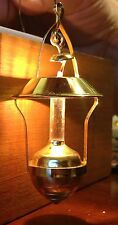 Dollhouse miniature brass hanging light lamp Early American style 3""