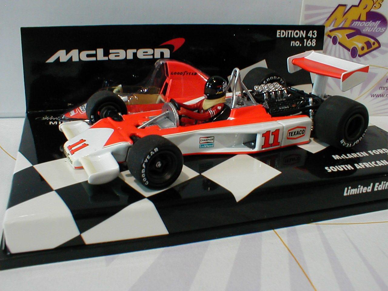Minichamps  530764331-McLaren Ford m23 No. 11 South Africa GP 1976 James Hunt 1 43  excellent prix