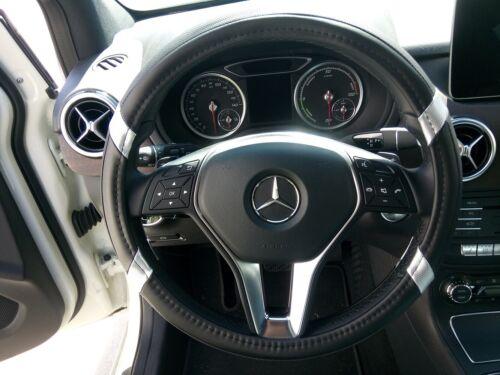 Silver Rare PU Leather Steering Wheel Cover Fashion Stylish Comfort Black