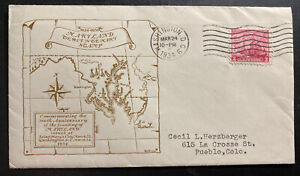1934-Washington-USA-First-Day-Cover-FDC-300th-Anniversary-Of-Maryland-Founding