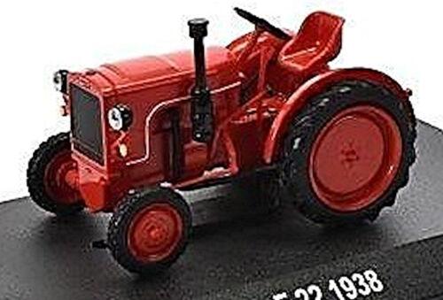 Fahr f22-1938 tractor remolcador rojo red 1:43
