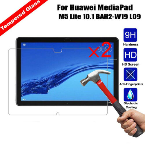 2Pcs Tempered Glass Screen Protector For Huawei MediaPad M5 Lite 8.0 10.1 Tablet