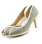 miniatura 6 - Para mujeres Zapatos Tacón Gatito Peep Toe Sandalias Diamante Fiesta Damas Boda Tribunal UK