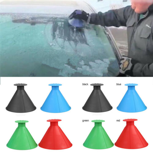 Breaking ice 4 PCS Removable Magic Shovel Cone Shaped Car Ice Scraper Tools