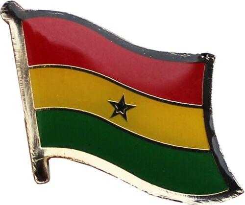 Wholesale Pack of 3 Ghana Country Flag Bike Hat Cap lapel Pin