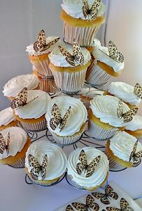 24-Leopard-Print-Butterflies-Edible-Cupcake-Toppers-Birthday-Cake-Decorations