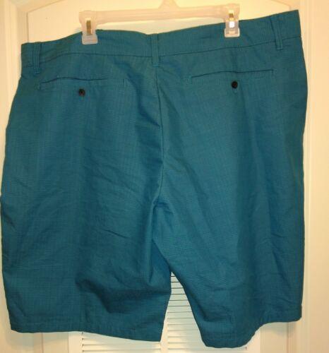 "Mens Blue Black Plaid Shorts Big and Tall Size XL 42 22/"" seam Moisture Wicking"