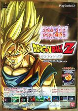 DRAGONBALL Z BUDOKAI RARA SONY PS2 GIAPPONESE 0,5 cm x 73 cm PROMO POSTER