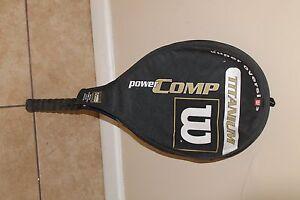 Candide Wilson 110 Titanium Raquette De Tennis, Grip 4 1/4-afficher Le Titre D'origine