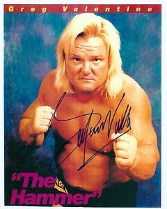 Image Is Loading GREG HAMMER VALENTINE WWF WWE SIGNED AUTOGRAPH 8X10