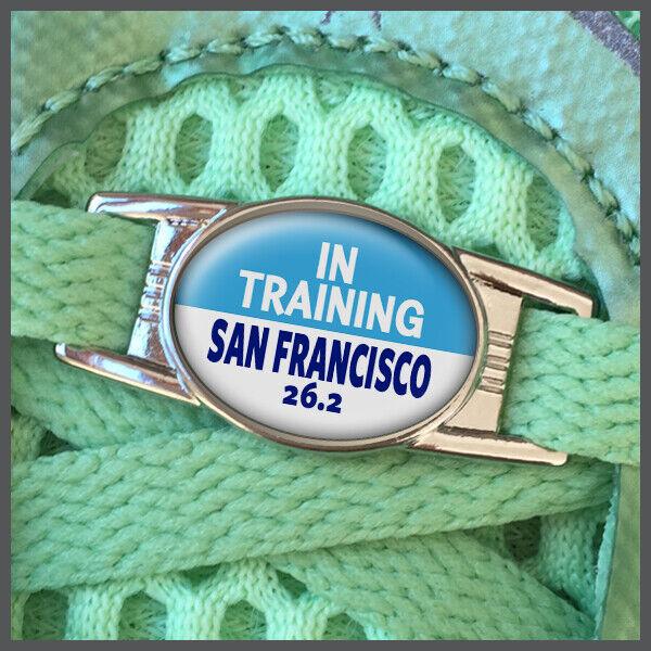 In Training San Francisco 26.2 Marathon Shoelace Shoe Charm or Zipper Pull
