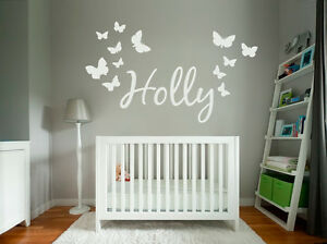 Custom-Text-Name-Vinyl-Wall-Door-Sticker-Children-Kids-and-Butterflies-Fonts