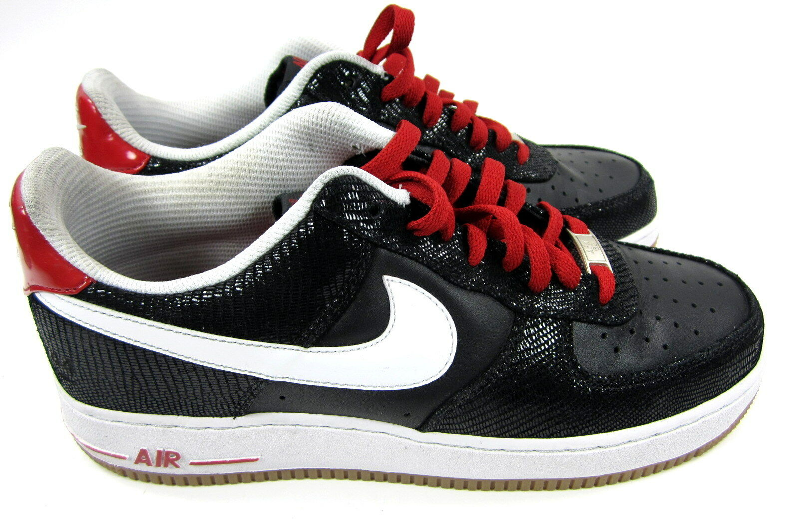 Nike Chaussures Air Force 1 Low Premium Noir /blanc /Red Baskets Baskets /Red 056009