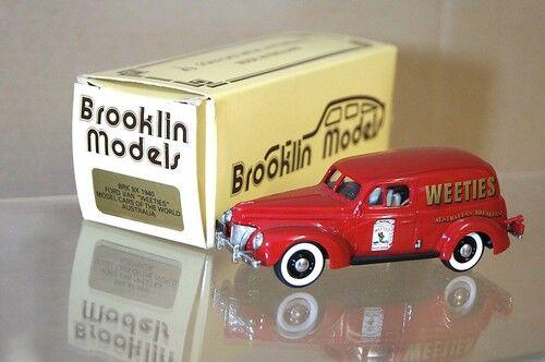 Brooklin Modelle Brk 9X 1940 Ford Lieferung Lastwagen Weeties Australien MIB Mq