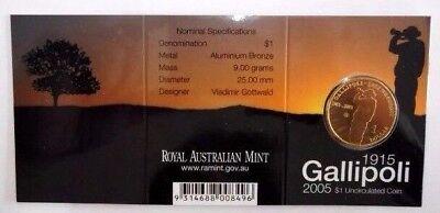 2005 Gallipoli RAM $1 UNC B Mintmark