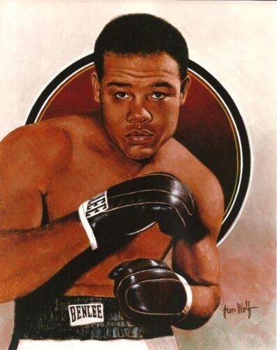 Vintage Artwork Picture JOE LOUIS 8x10 ART PHOTO THE BROWN BOMBER Boxing Champ