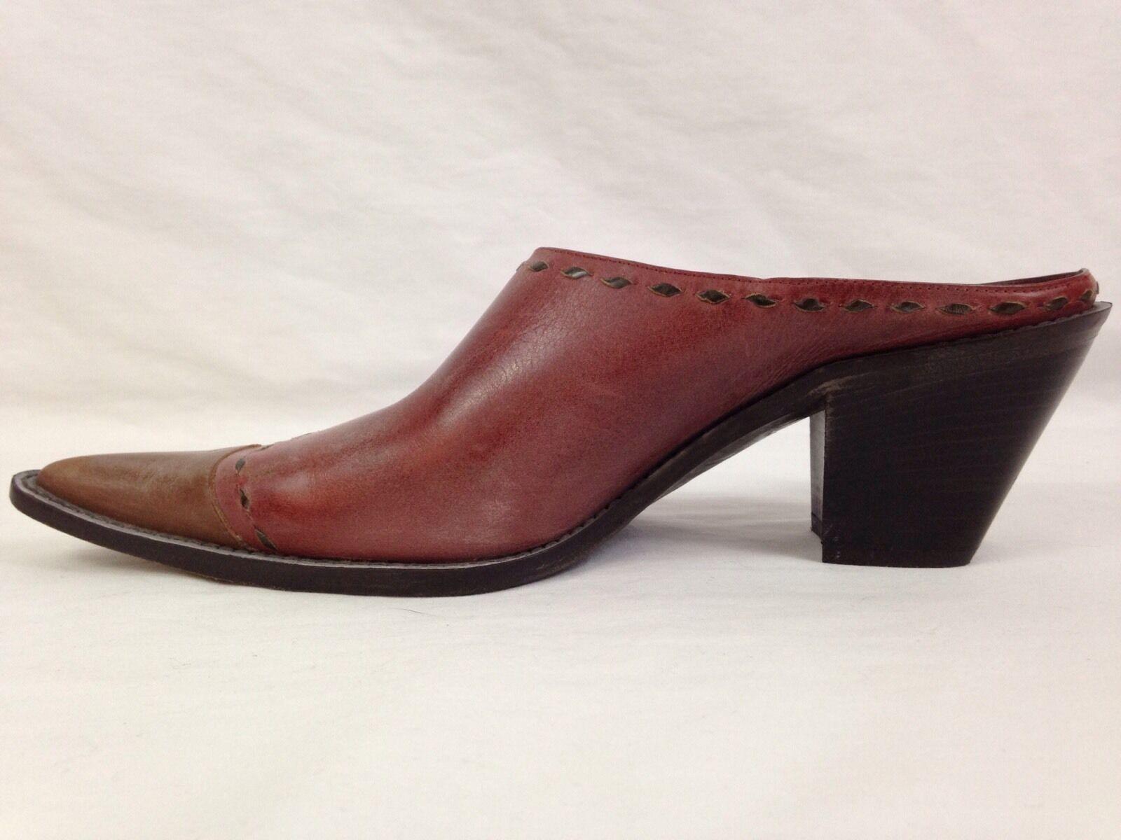 Donald Pliner Western Couture Damenschuhe Schuhes Größe 8.5 N N 8.5 Slip Ons Mules Clogs  3ccf9f