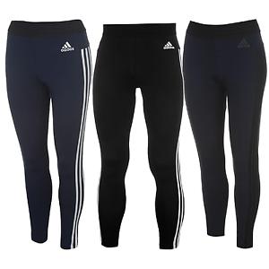 26fb904f75c301 Das Bild wird geladen adidas-Damen-Leggings-3-Streifen-Tights-Fitness-Hose-
