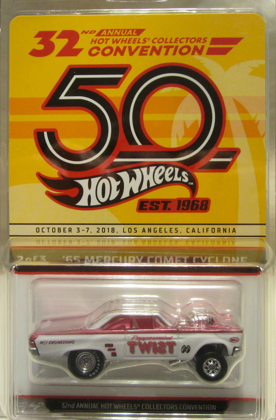 2018 50th Anniversaire Hot Wheels 32nd Convention '65 Mercury Comet Cyclone