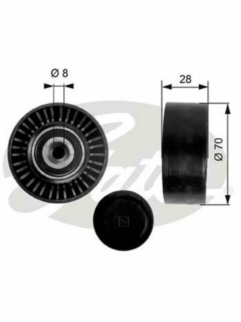 Gates DriveAlign Idler Pulley FOR AUDI A4 B8 (36248)