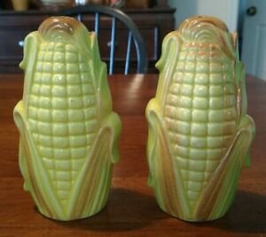 Vintage Corn Salt and Pepper Hand Painted Japan