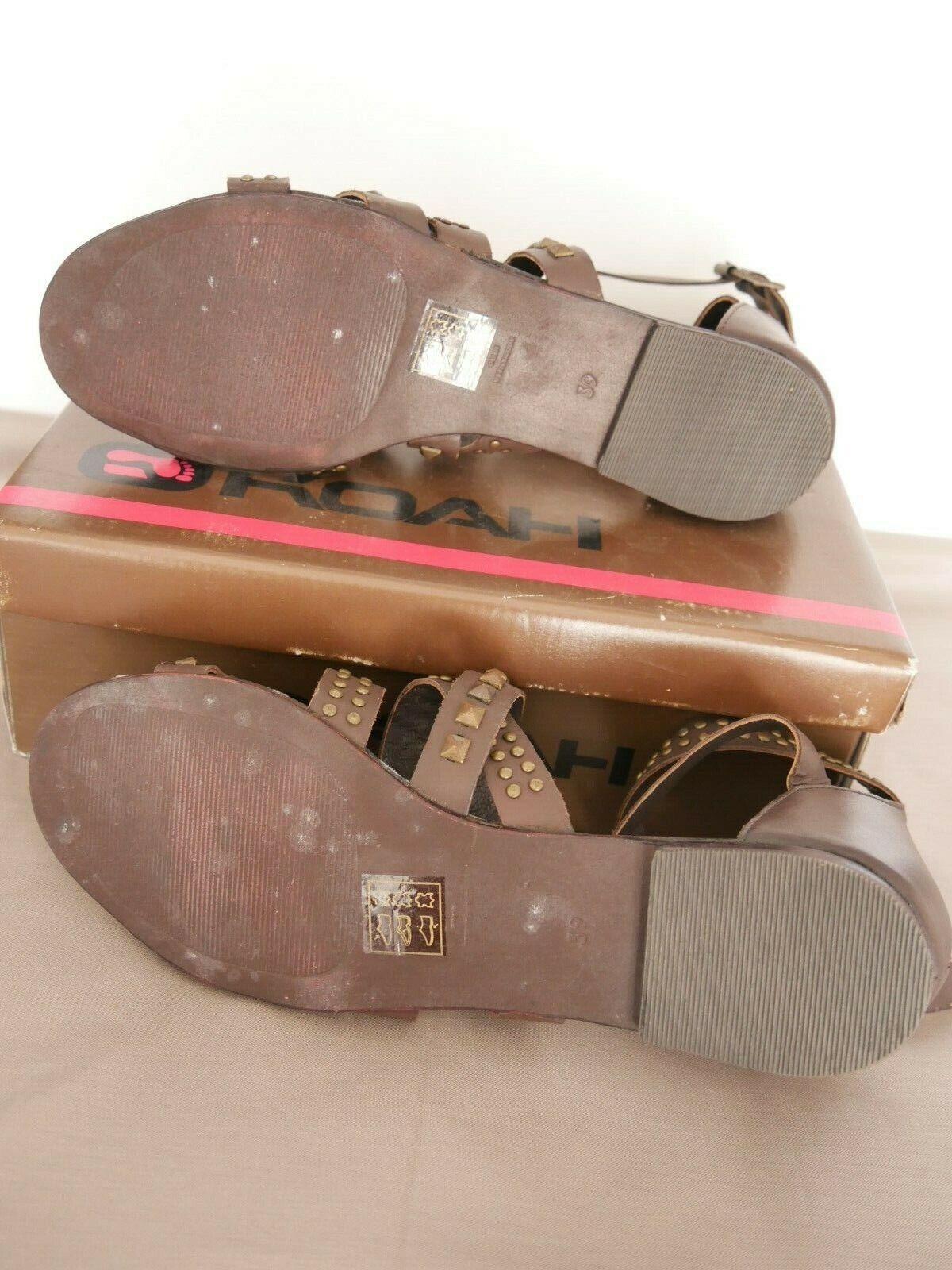 Koah Koah Koah sandales rock Marronee chocolat 39 à clous scarpe nu pieds scarpe 0f9dd3