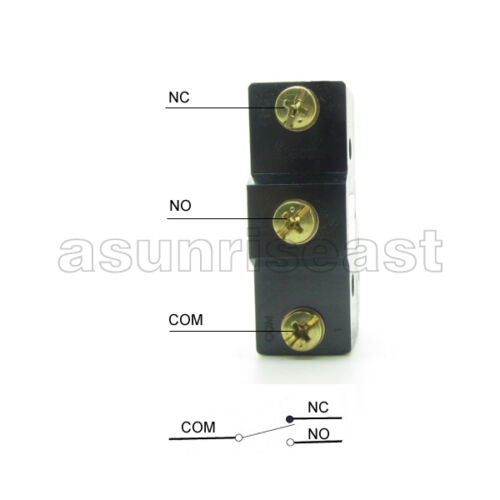 Micro Limit Switch Momentary Metal Wheel Roller CM-1308 1308 NO-COM-NC 380V 15A