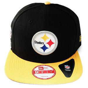 88f36ab64e8 Image is loading New-Era-NFL-Pittsburgh-Steelers-classic-Snapback-Hat-