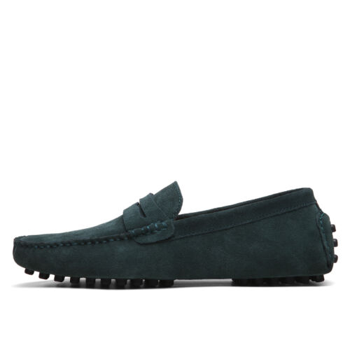 Men Minimalism Flat Slip On Shoes Driving Loafers Suede Casual Moccasins British
