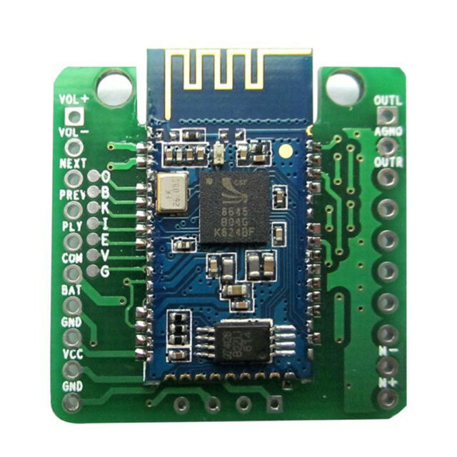 Mini CSR8645 APT-X Hifi Bluetooth 4.0 Receiver Board 3.7V/4.2V Lithium Bat Power