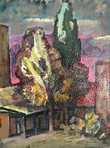 painting-art-Evdushenko-socialist-realism-vintage-landscape-old-impressionism