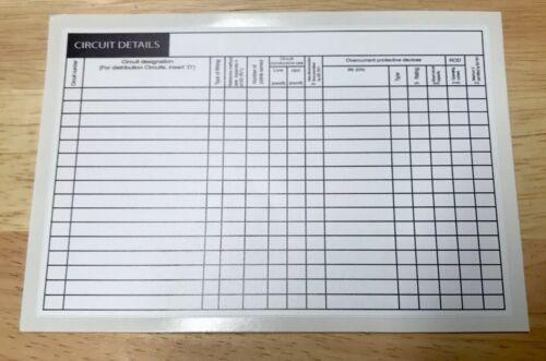 Circuit électrique graphique Détail les étiquettes dans votre entreprise détails