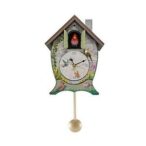 Clocks with sounds 11 cuckoo clock wall spring cardinal ckgc garden cottage ebay - Cuckoo bird clock sound ...