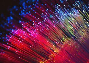 A1-Red-Optical-Fibre-Poster-Art-Print-60-x-90cm-180gsm-Light-Speed-Gift-12637