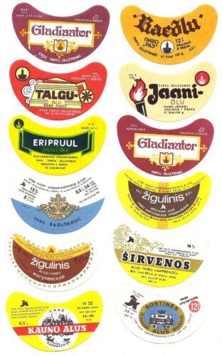 12 Authentic Soviet Estonia ENSV /& Lithuania LTSR USSR Russian Beer Labels #11