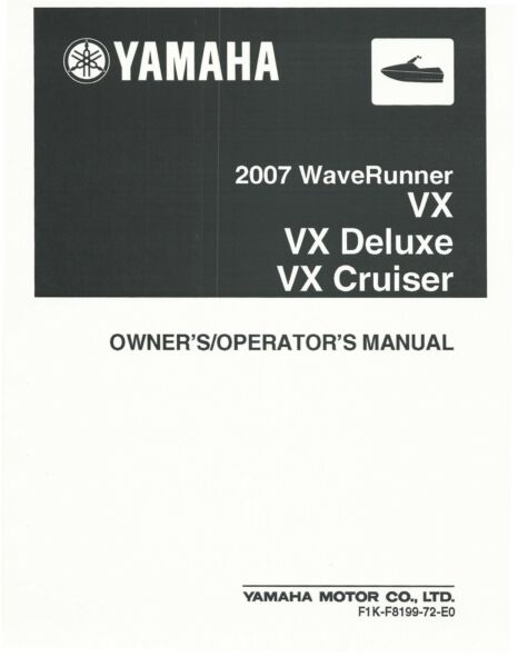 waverunner vx service manual